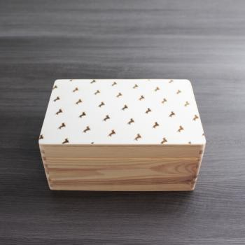 Dackel - Holzbox - B-STYLE BOTTOM - Gr. S - ca. 30 x 20 x 14 cm | VARIANTE 1