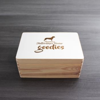 Leckerli - Holzbox - AMERICAN STAFFORDSHIRE TERRIER - GOODIES - Gr. S - ca. 30 x 20 x 14 cm | VARIANTE 1